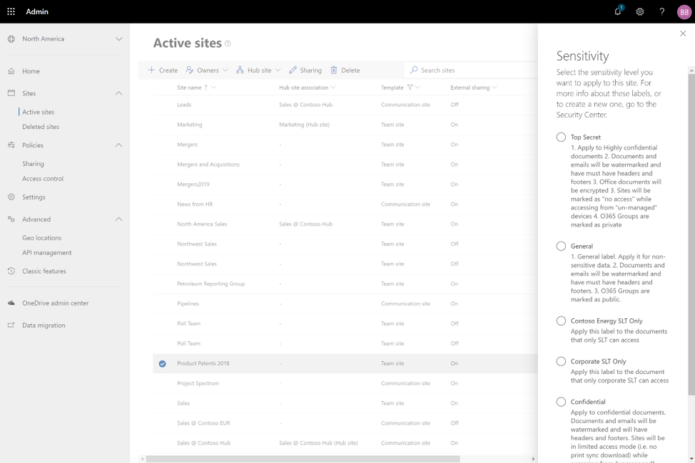 SharePoint Online Admin Center
