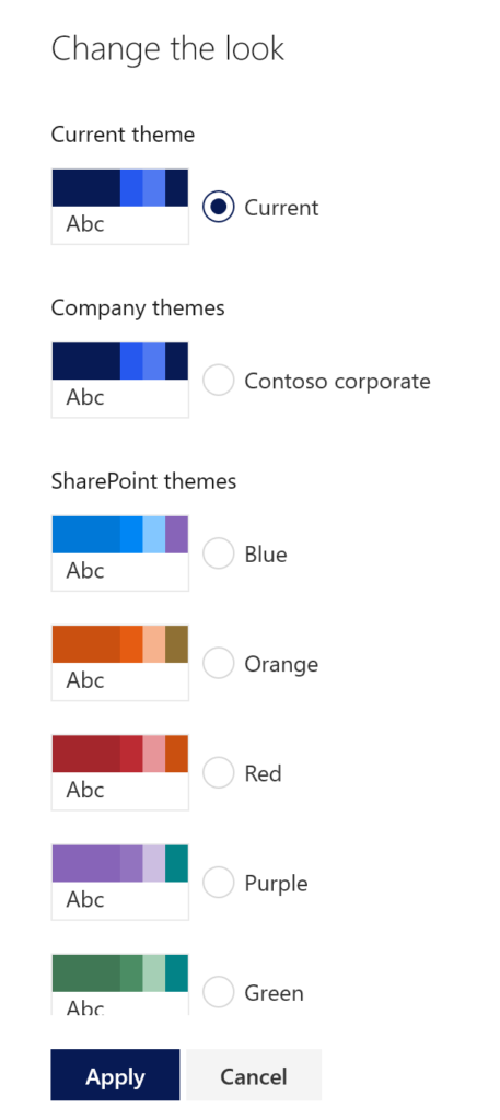 SharePoint themes