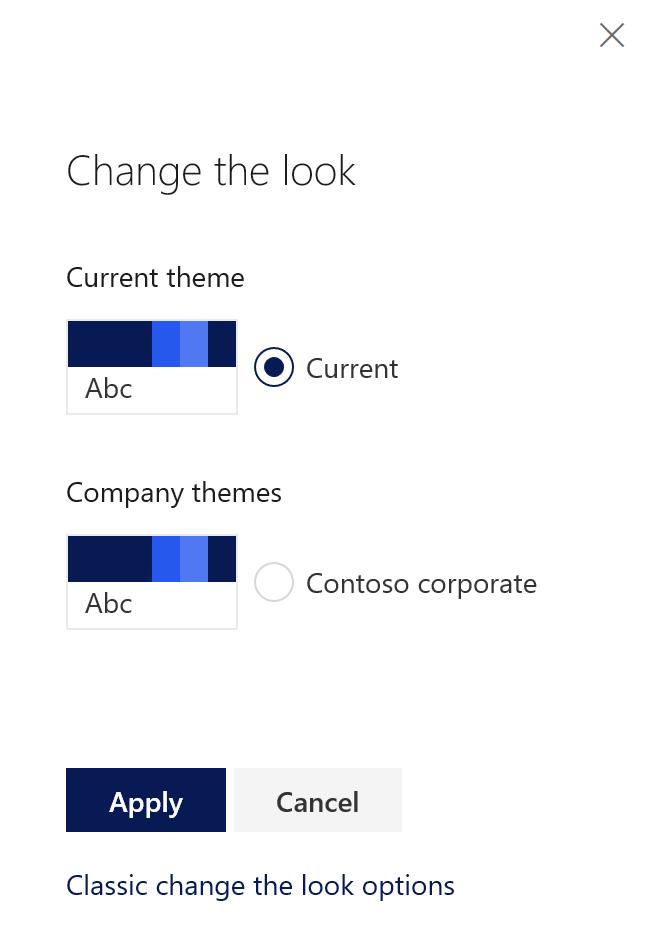 Hide default themes